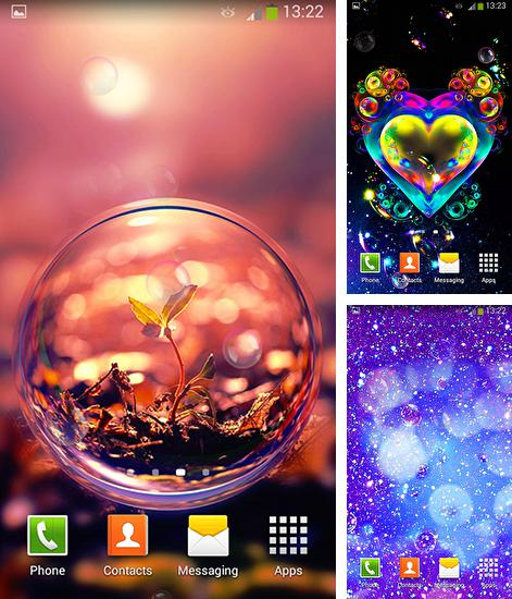 In addition to live wallpaper Peacocks for Android phones and tablets, you can also download Bubbles for free.