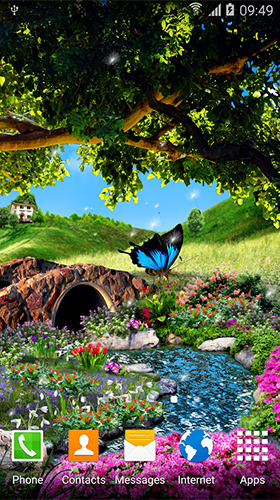 Kostenloses Android-Live Wallpaper Schmetterlinge. Vollversion der Android-apk-App Butterflies 3D by BlackBird Wallpapers für Tablets und Telefone.