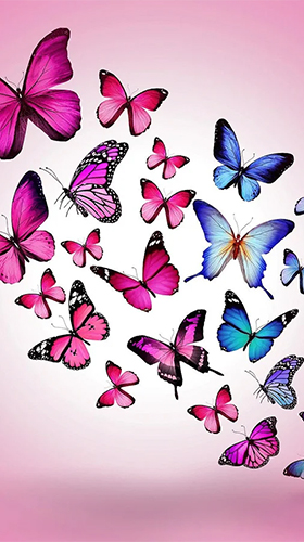 Butterflies by Happy live wallpapers für Android spielen. Live Wallpaper Schmetterlinge kostenloser Download.