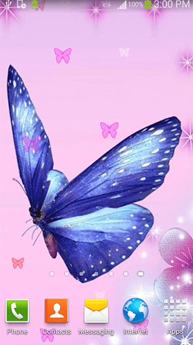 Геймплей Butterfly by Dream World HD Live Wallpapers для Android телефона.