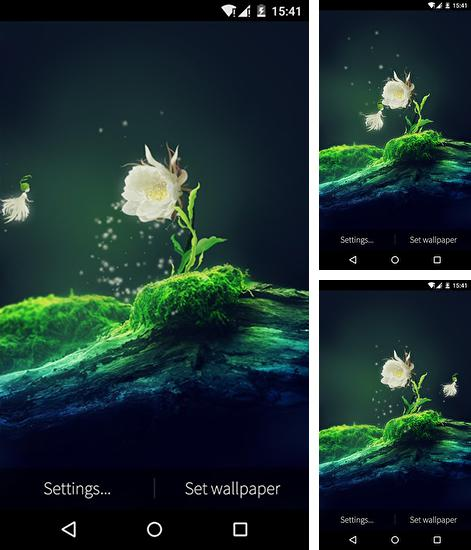In addition to live wallpaper The Moon by Jango LWP Studio for Android phones and tablets, you can also download Cactus flower for free.