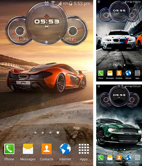 Download live wallpaper Cars clock for Android. Get full version of Android apk livewallpaper Cars clock for tablet and phone.