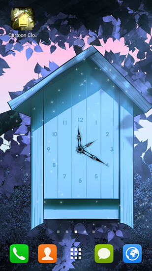 Screenshots of the Cartoon clock for Android tablet, phone.