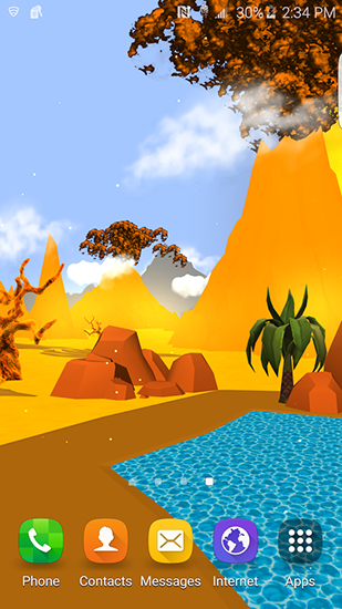 Cartoon desert 3D
