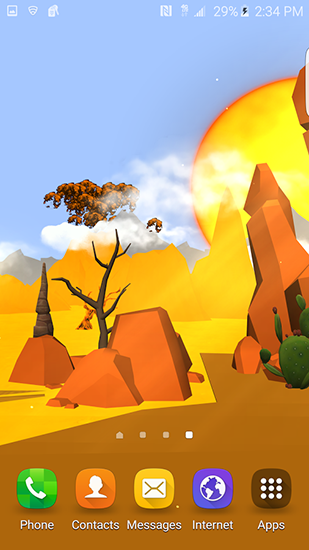 Cartoon desert 3D für Android spielen. Live Wallpaper Cartoon-Wüste 3D kostenloser Download.