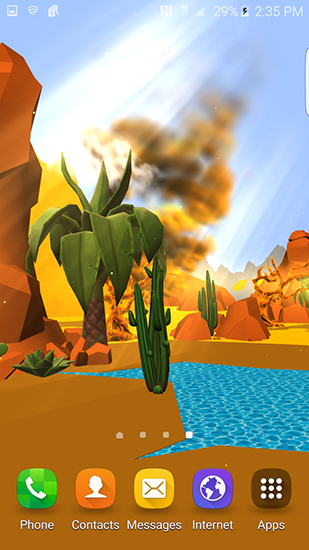Screenshots von Cartoon desert 3D für Android-Tablet, Smartphone.