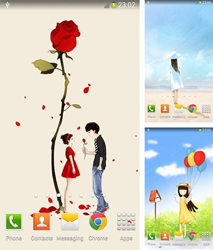 Download live wallpaper Cartoon girl for Android. Get full version of Android apk livewallpaper Cartoon girl for tablet and phone.