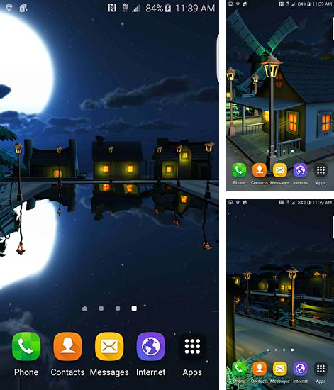 In addition to live wallpaper Love and heart for Android phones and tablets, you can also download Cartoon night town 3D for free.