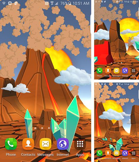 Download live wallpaper Cartoon volcano 3D for Android. Get full version of Android apk livewallpaper Cartoon volcano 3D for tablet and phone.