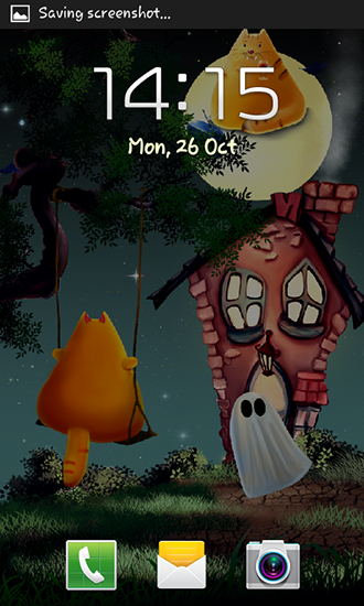Screenshots von Cat Halloween für Android-Tablet, Smartphone.