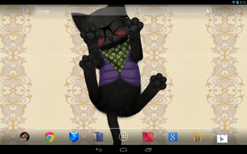 Screenshots of the Cat HD for Android tablet, phone.