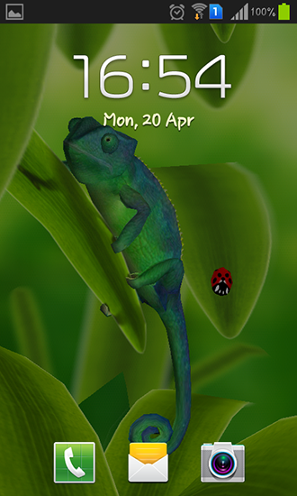 Screenshots of the Chameleon 3D for Android tablet, phone.