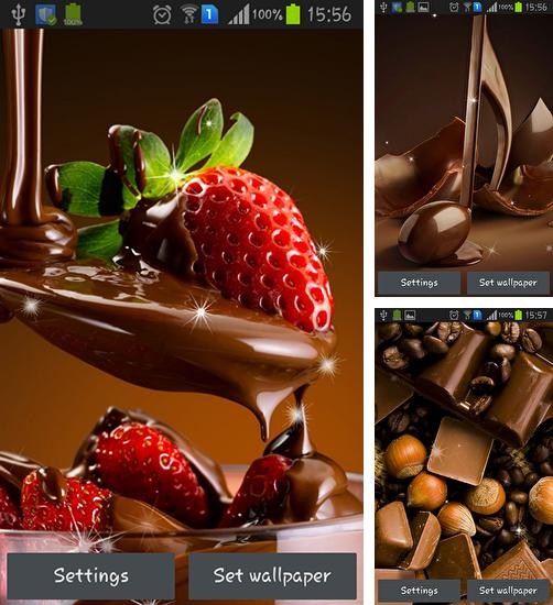 In addition to live wallpaper Gold fish for Android phones and tablets, you can also download Chocolate for free.