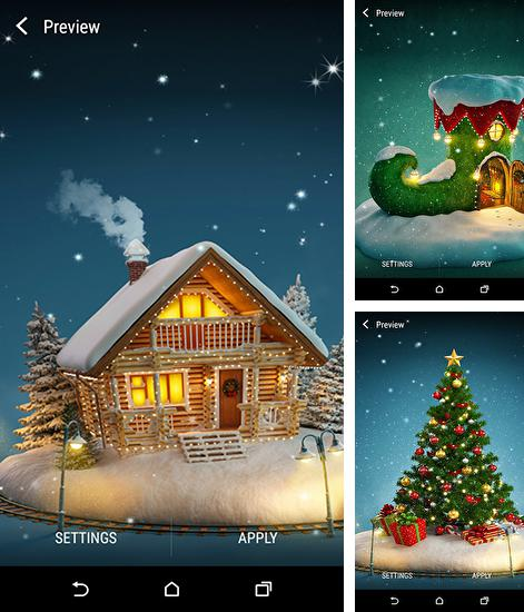 In addition to live wallpaper Abstract: Christmas for Android phones and tablets, you can also download Christmas 3D by Wallpaper qhd for free.