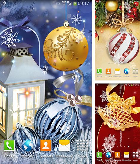 In addition to live wallpaper Poppy field for Android phones and tablets, you can also download Christmas balls for free.