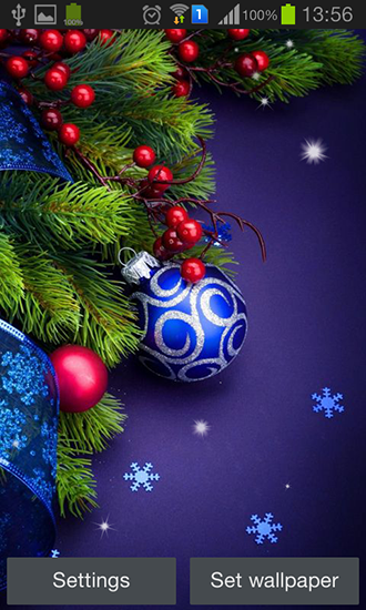 Christmas by Hq awesome live wallpaper für Android spielen. Live Wallpaper Weihnachten kostenloser Download.