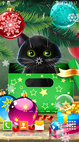 Download livewallpaper Christmas cat for Android. Get full version of Android apk livewallpaper Christmas cat for tablet and phone.