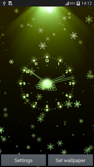 Screenshots von Christmas clock für Android-Tablet, Smartphone.