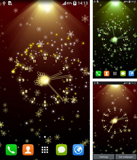 In addition to live wallpaper Pink flowers for Android phones and tablets, you can also download Christmas clock for free.