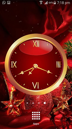 Screenshots of the Christmas: Clock by Appspundit Infotech for Android tablet, phone.