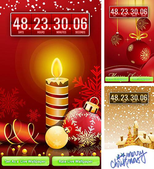 In addition to live wallpaper Rainbow clock for Android phones and tablets, you can also download Christmas: Countdown for free.