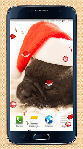 Screenshots of the Christmas dogs for Android tablet, phone.