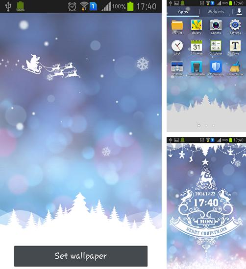 In addition to live wallpaper Night for Android phones and tablets, you can also download Christmas dream for free.