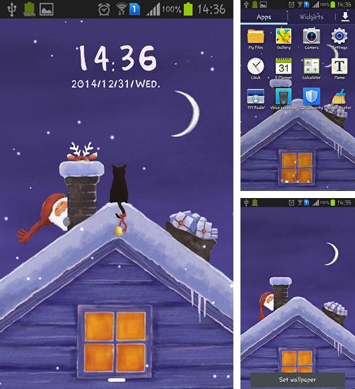 In addition to live wallpaper Ladybugs for Android phones and tablets, you can also download Christmas Eve for free.