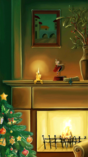 Screenshots of the Christmas fireplace by Amax LWPS for Android tablet, phone.
