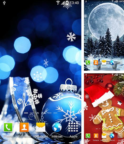 In addition to live wallpaper Snow winter for Android phones and tablets, you can also download Christmas HD by Amax lwps for free.