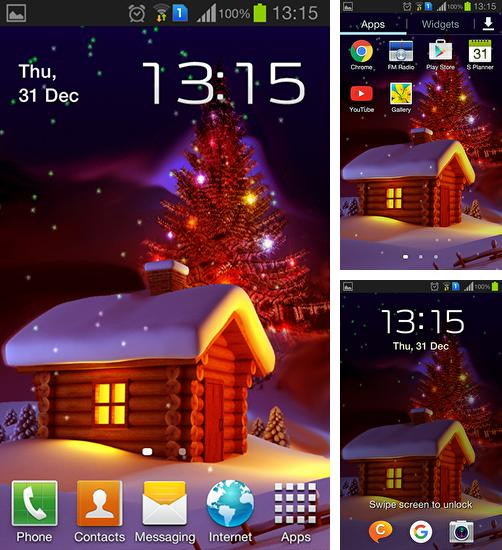 In addition to live wallpaper Galaxy by Wasabi for Android phones and tablets, you can also download Christmas HD by Haran for free.