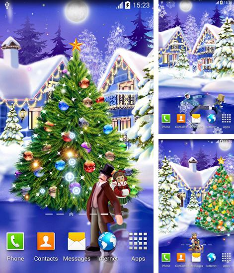 In addition to live wallpaper Black Clock for Android phones and tablets, you can also download Christmas ice rink for free.