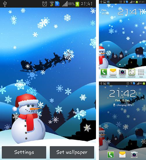 In addition to live wallpaper Rains for Android phones and tablets, you can also download Christmas magic for free.
