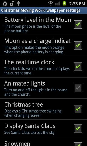 Screenshots of the Christmas: Moving world for Android tablet, phone.