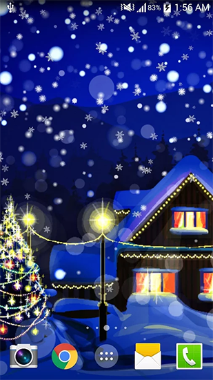 Screenshots of the Christmas night for Android tablet, phone.
