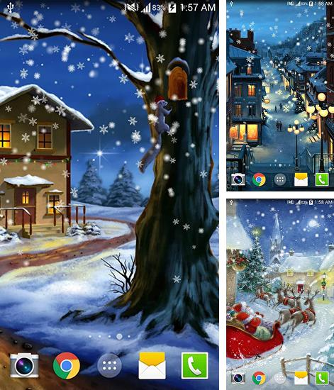In addition to live wallpaper Cat HD for Android phones and tablets, you can also download Christmas night for free.