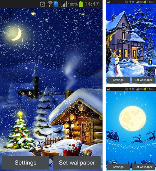 In addition to live wallpaper Cartoon city for Android phones and tablets, you can also download Christmas night by Jango lwp studio for free.