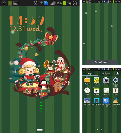 In addition to live wallpaper Magic forest for Android phones and tablets, you can also download Christmas party for free.
