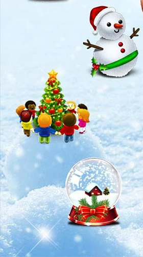Screenshots of the Christmas Santa for Android tablet, phone.