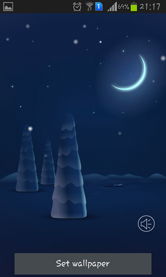 Screenshots of the Christmas snow for Android tablet, phone.