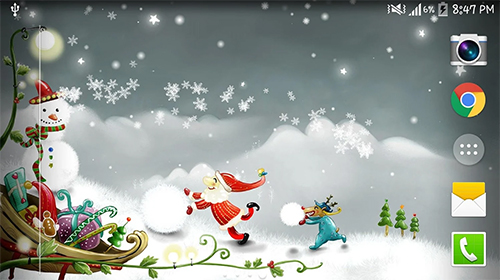Capturas de pantalla de Christmas snow by Live wallpaper HD para tabletas y teléfonos Android.