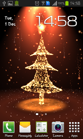 Screenshots of the Christmas tree for Android tablet, phone.