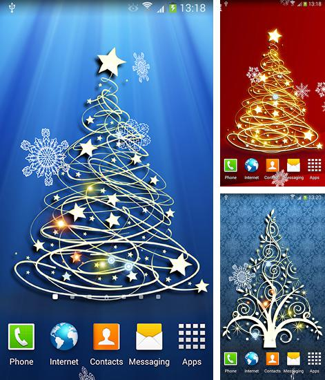 In addition to live wallpaper Lilly flower for Android phones and tablets, you can also download Christmas tree 3D by Amax lwps for free.