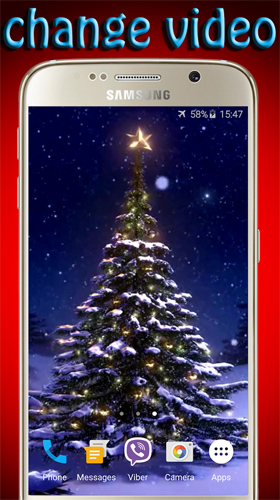 Screenshots of the Christmas tree by Pro LWP for Android tablet, phone.