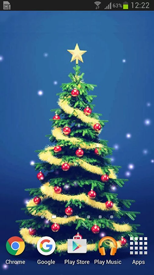 Screenshots of the Christmas trees for Android tablet, phone.