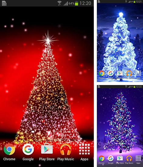 In addition to live wallpaper Mystic night by Amax LWPS for Android phones and tablets, you can also download Christmas trees for free.