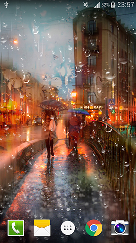 Screenshots of the City rain for Android tablet, phone.
