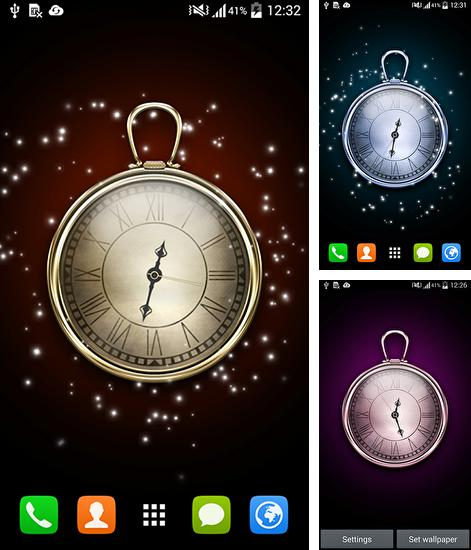 In addition to live wallpaper Bricks Pro for Android phones and tablets, you can also download Clock HD for free.