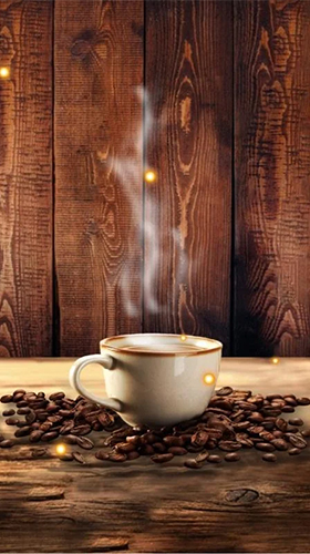 Coffee by Free Apps Factory für Android spielen. Live Wallpaper Kaffee kostenloser Download.