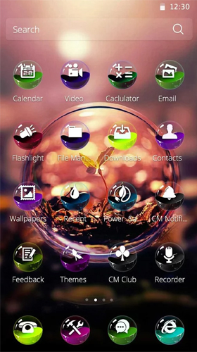Kostenloses Android-Live Wallpaper Farbiger Ball. Vollversion der Android-apk-App Colorful ball für Tablets und Telefone.